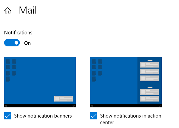 Notifcation Banners and Action Center