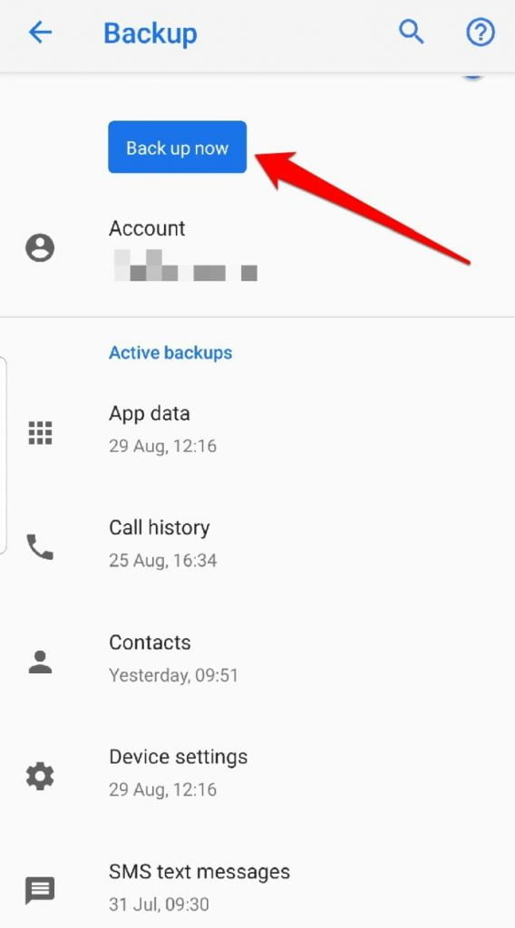 backup sms android backup backupnow