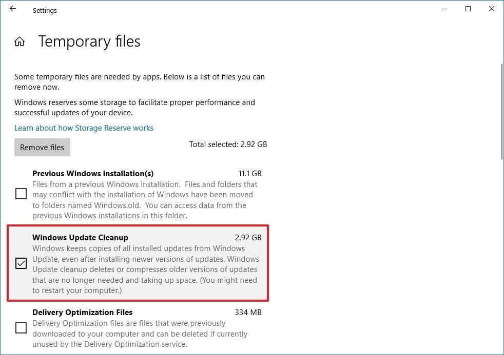delete windows cleanup files