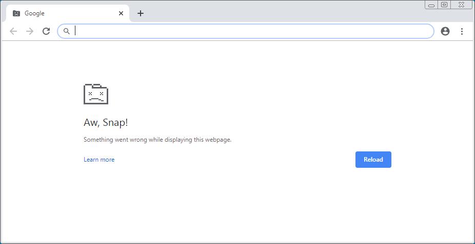 fix Chrome AwSnap bug