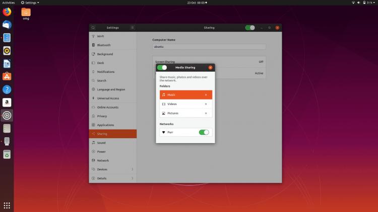 media sharing DLNA in ubuntu 19.10