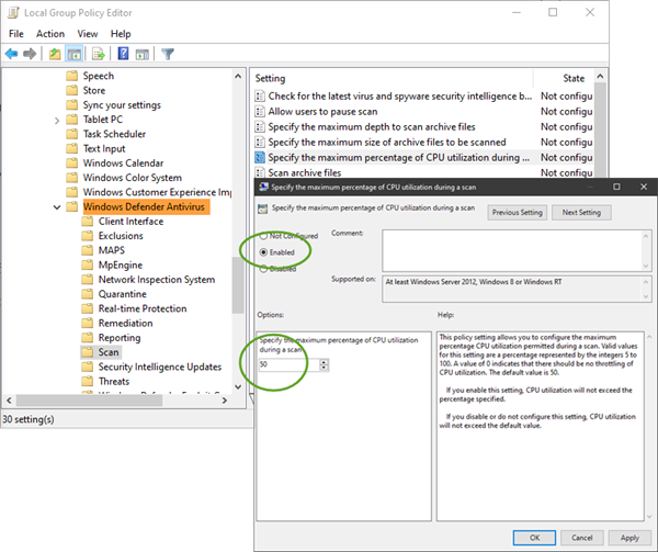 kiem tra CPU cho Windows Defender 1