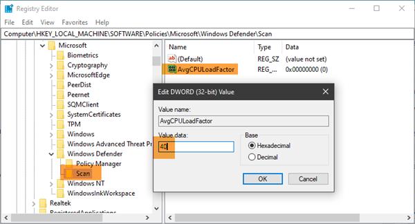 kiem tra CPU cho Windows Defender 2