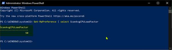 kiem tra CPU cho Windows Defender