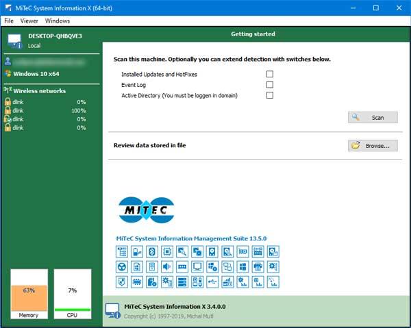 kiem tra cau hin may tinh voi MiTeC System Information X
