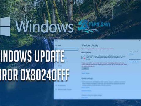 sua loi update 0x80240fff