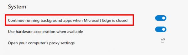 Tắt Microsoft Edge chạy ẩn trong Windows 10