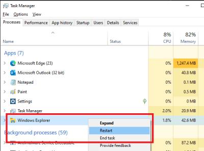 Sửa lỗi Explorer.exe trên Windows 10  1