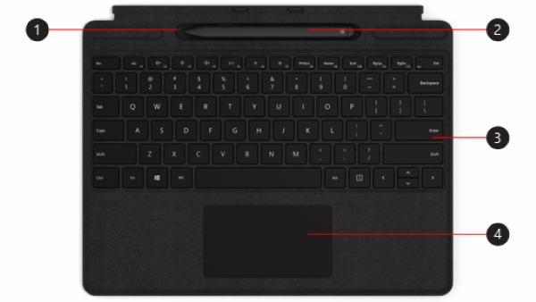 Thiết lập và sử dụng Signature Keyboard trên Surface Pro X