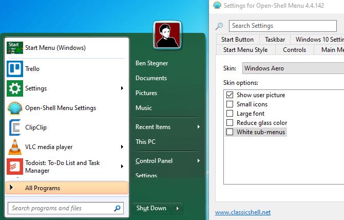 Windows 7 Start Menu Open Shell