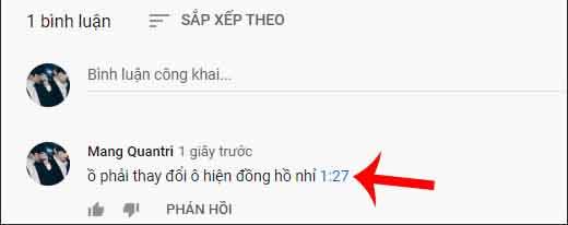 chen thoi gian vao binh luan youtube 3