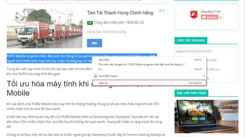 Copy text trên trang web bị chặn trên Chrome