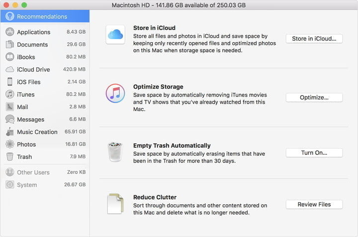 mac optimize storage