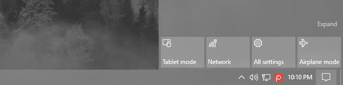 tablet mode