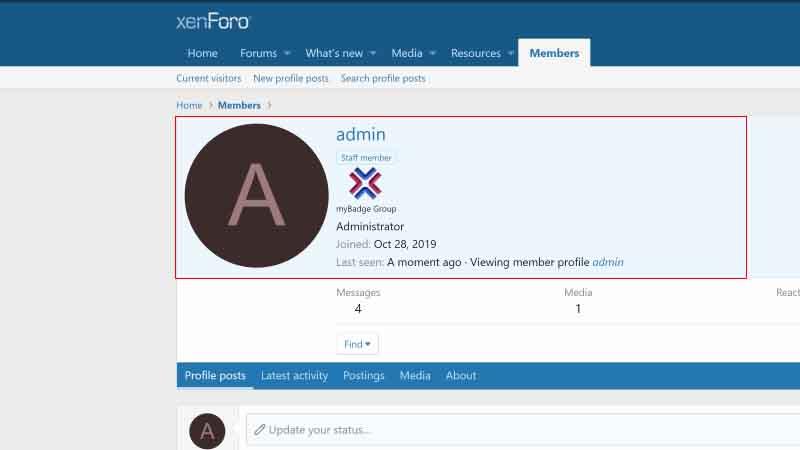 Thêm huy hiệu/banner User Info XenForo 2