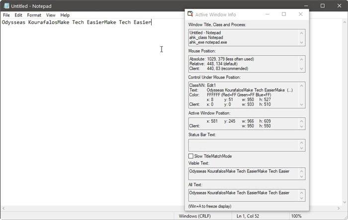 Automate Windows with AHK windows spy