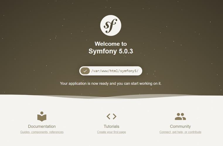 Installed Symfony5