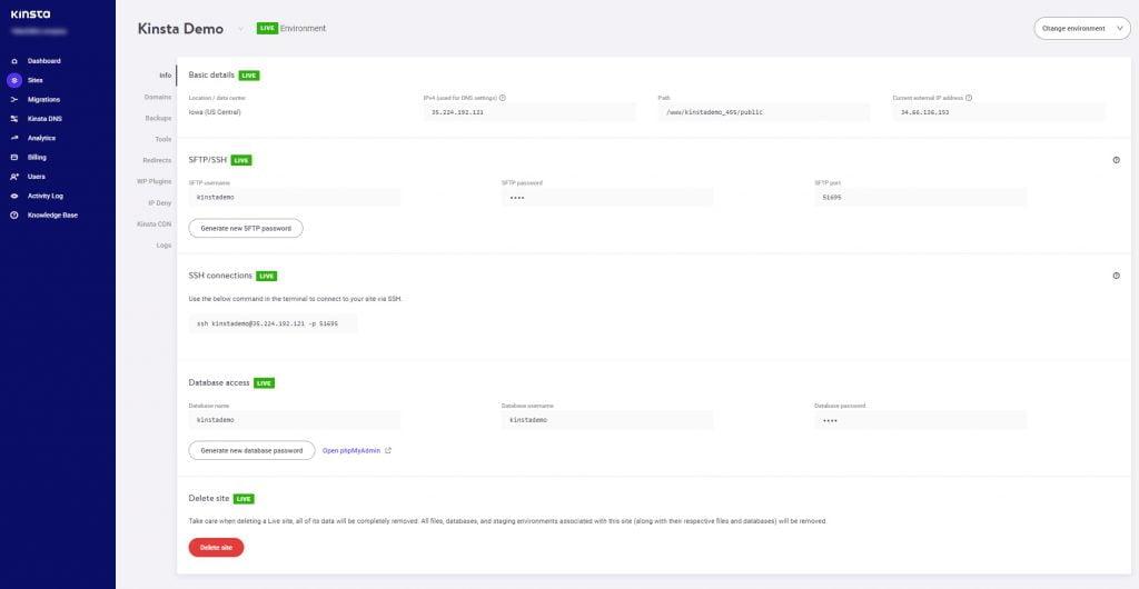 Cài đặt WordPress trên Kinsta - Managed Hosting 1