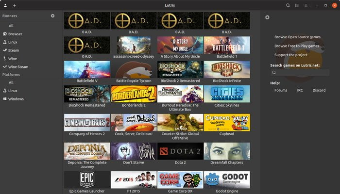 play windows games on linux lutris 2