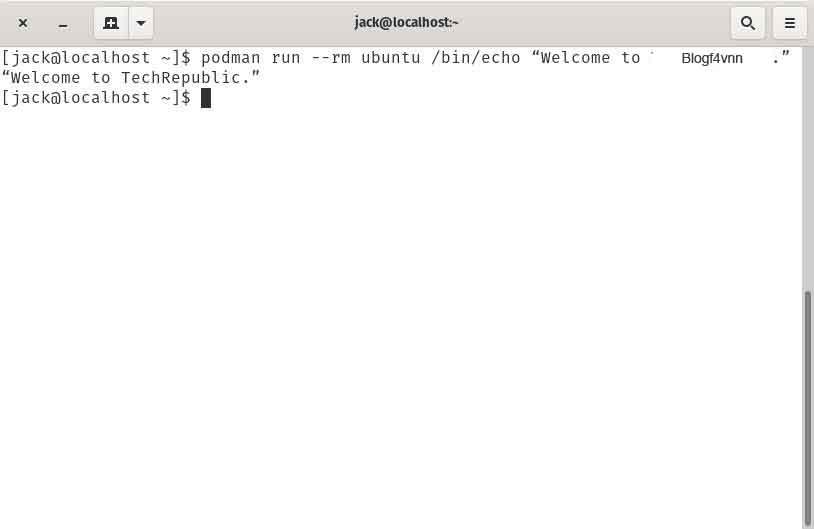 Cách cài đặt công cụ chứa Podman trên CentOS 8