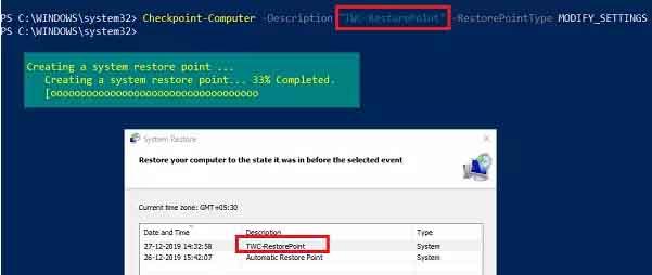 tao diem system restore windows 10 2