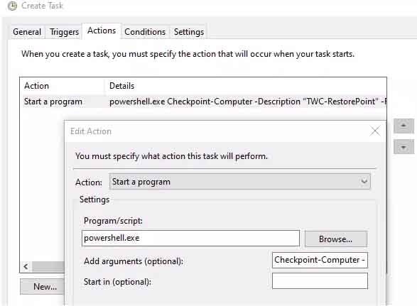 tao diem system restore windows 10 5