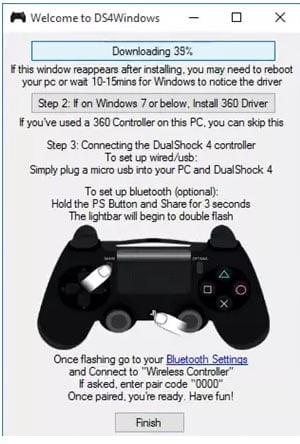 Kết nối PS4 Controller với windows 10