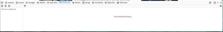 Firefox Performance  kiểm tra khả năng phản hồi website