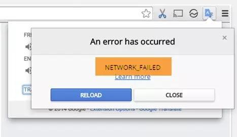 Sửa lỗi NETWORK_FAILED trên trình duyệt Chrome