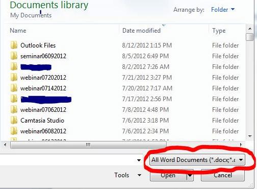 WordPerfect file in Microsoft Word