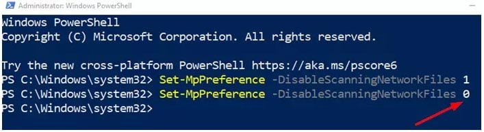 Bật quét mạng trong Windows Defender trên Windows 10
