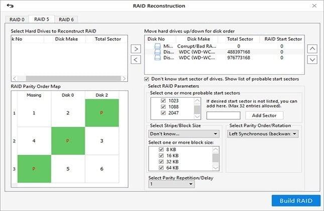 Step 3: Sửa Non-Booting hoặc Offline RAID 5 sau khi lỗi ổ đĩa đơn mà không mất dữ liệu
