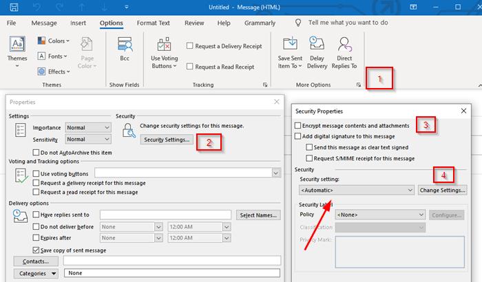 Cách mã hóa Email trong ứng dụng Microsoft Outlook-1
