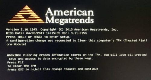 Surface bị kẹt trên màn hình đen American Megatrends