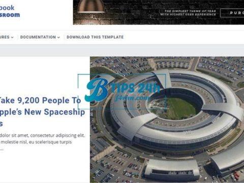 FB NewsRoom Blogger Template Free thumbnail
