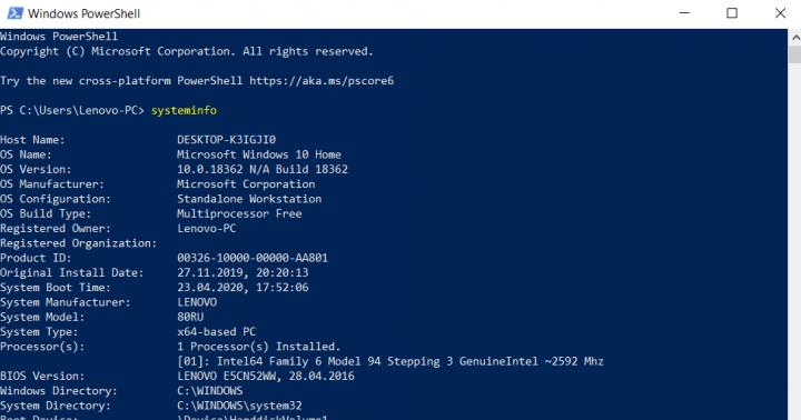 Cách lấy thông tin CPU trong Windows PowerShell