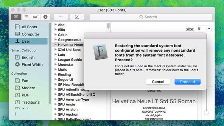 Cài đặt font miễn phí trong macOS Catalina cho Mac