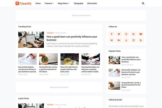 Template Blogspot có sẵn quảng cáo