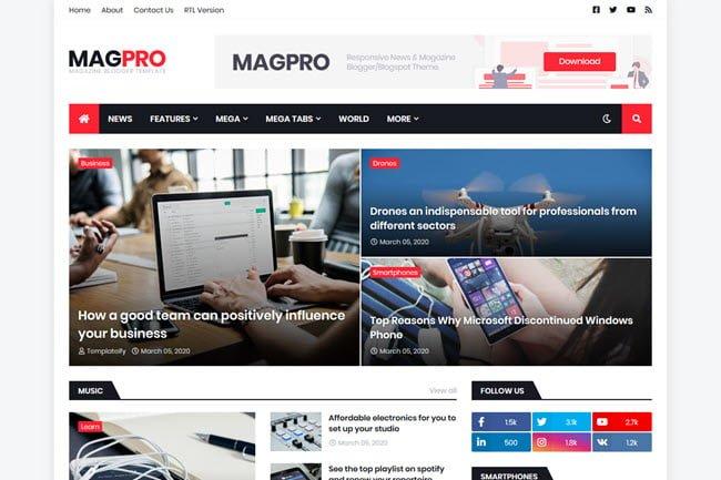 Template Blogspot dành cho quảng cáo