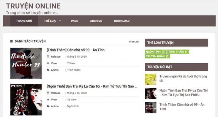 Chia sẻ template blogspot làm web đọc truyện online