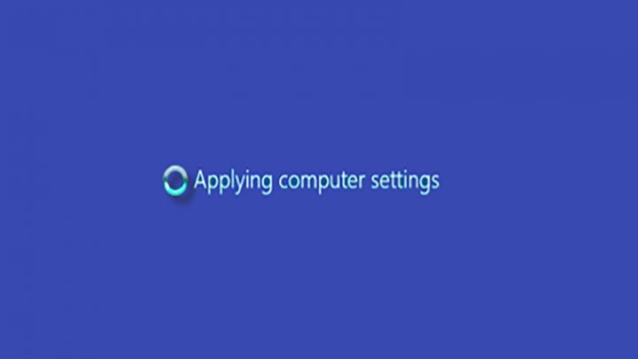 Windows Server bị kẹt tại màn hình Applying Computer Settings
