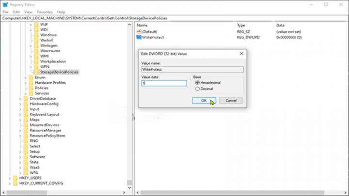 Cách bật hoặc tắt USB Write Protection