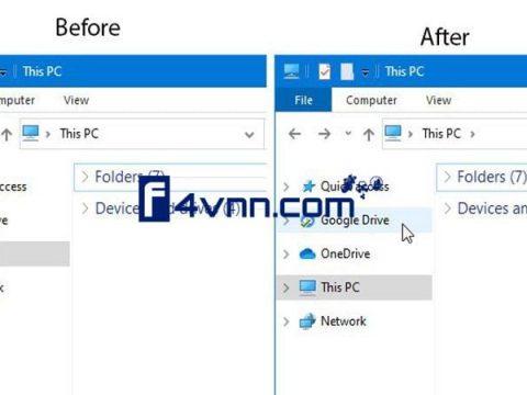 add remove google drive navigation pane thumbnail