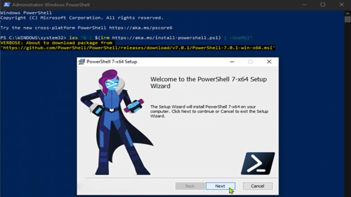 Cách cài đặt PowerShell 7.0 trên Windows 10