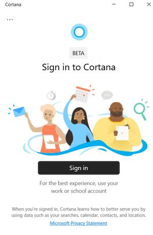 Không thể đăng nhập vào Cortana trên Windows 10
