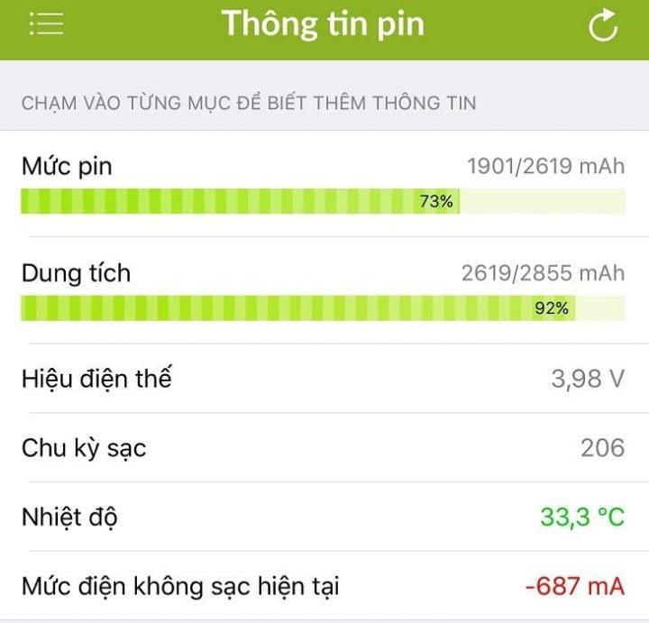 kiem tra tinh trang pin iphone 2