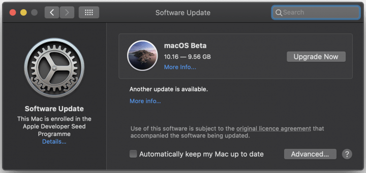 macos 11 big sur profile update
