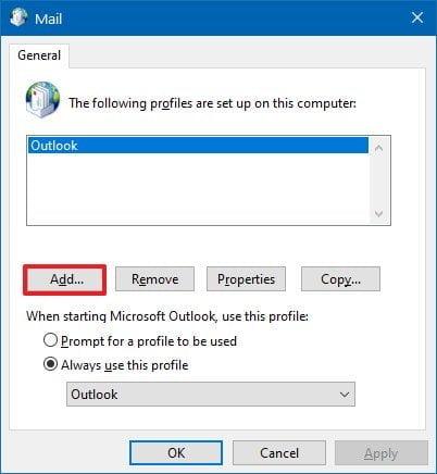 lỗi 0x80004005 trên Outlook