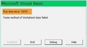 Cách sửa lỗi Runtime Error 1004 trong Microsoft Excel