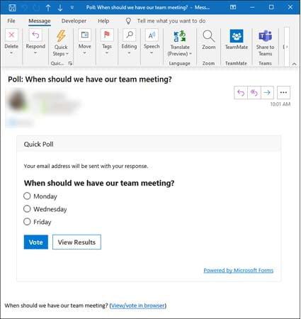tao email tham do y kien tren microsoft outlook 1